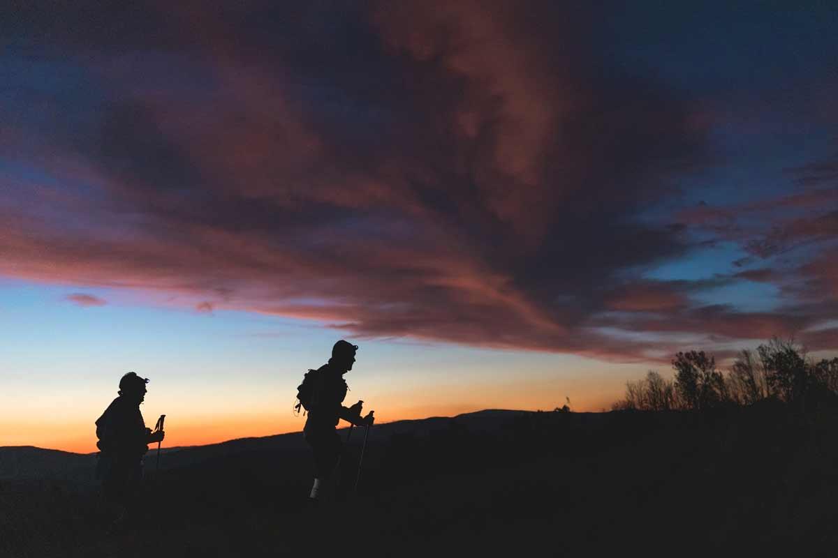 Łemkowyna Ultra-Trail 2019, Beskid Niski, zmierzch