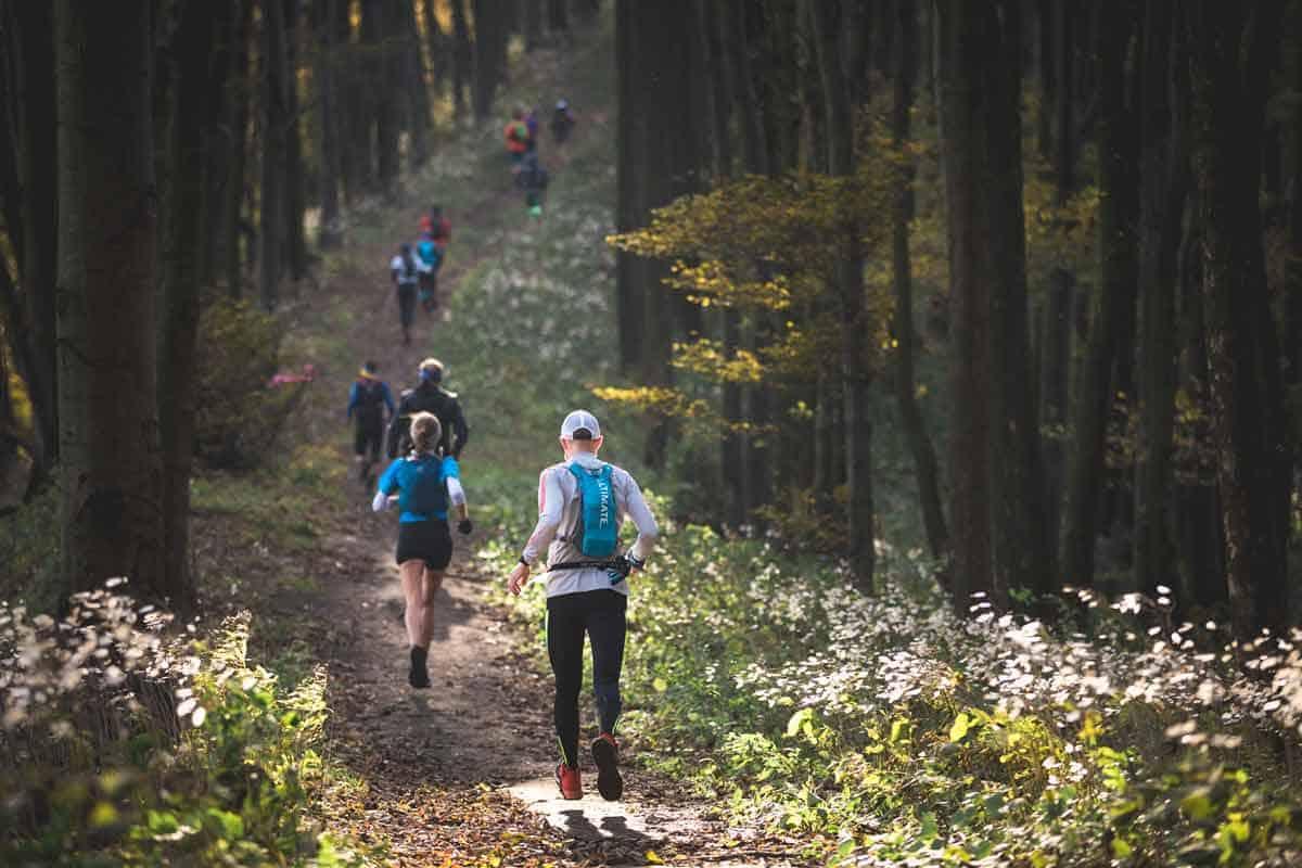 Łemkowyna Ultra-Trail 2019, bieg przez las