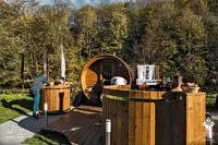 VINGBERG sauna, strefa relaksu, Łemkowyna Ultra-Trail 2019, fot. Manuel Uribe
