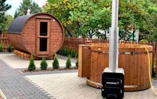 Sauna i balia ogrodowa ThermoWood®, produkcja Vingberg