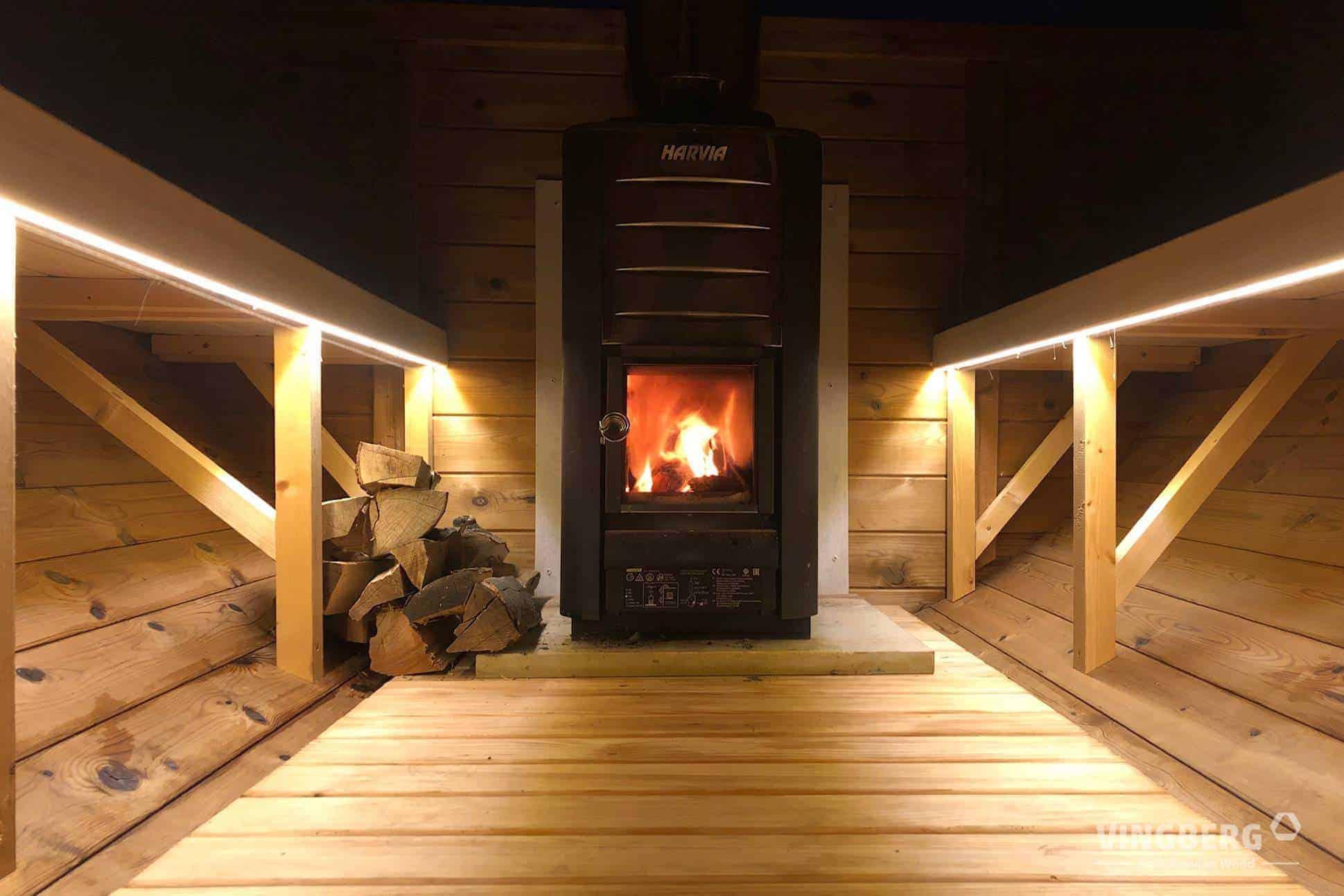 Piec do sauny Harvia - opalany drewnem
