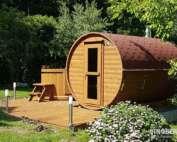 Sauna ogrodowa Akka #330 - kolor gontu czerwony