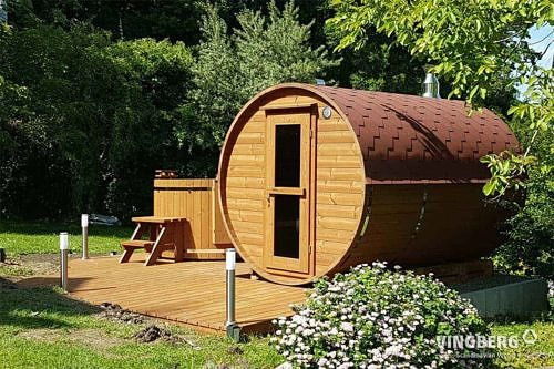 Sauna ogrodowa Akka #330 - rot
