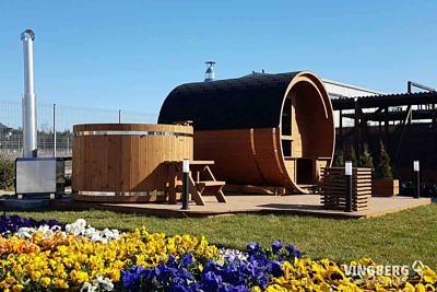Zestaw ogrodowy z sauną i balią - VINGBERG