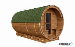Sauna ogrodowa z drewna termowanego
