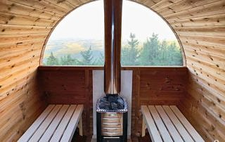 Okno panoramiczne w saunie
