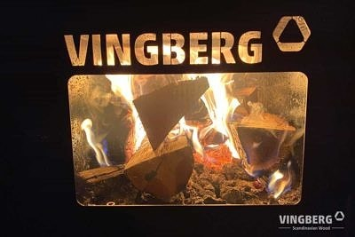 Piec zewnętrzny VINGBERG - przeszklone drzwiczki