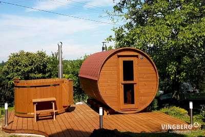 Sauna ogrodowa Akka #330 w zestawie z balią