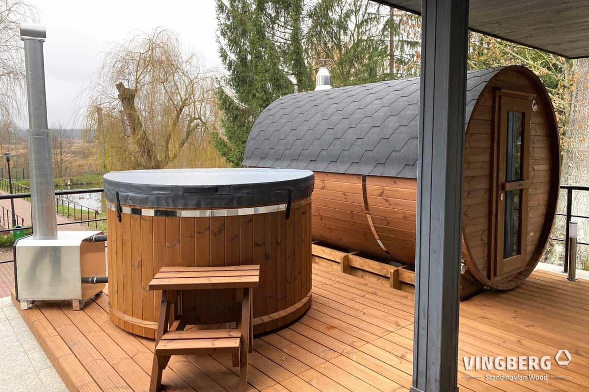 Sauna ogorodowa w zestawie z balią