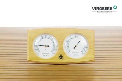 Drewniany termohigrometr do sauny