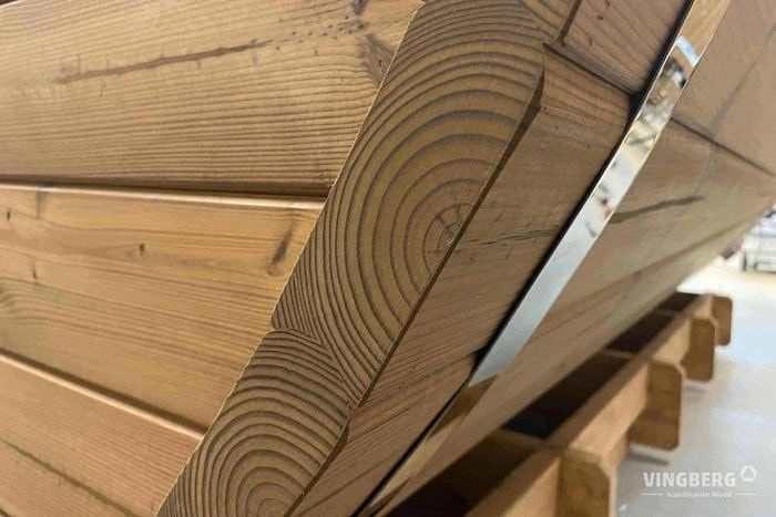 Sauna made from ThermoWood