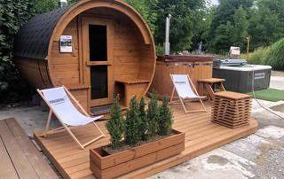 Sauna z balią - zestaw ogrodowy