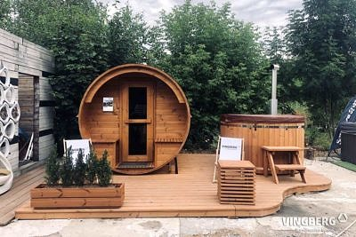 Sauna i balia do ogrodu z drewna ThermoWood