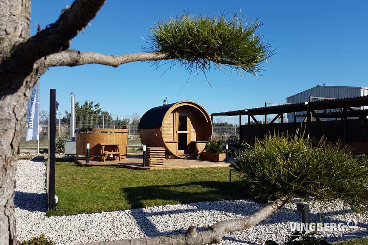 Zestaw SPA do ogrodu VINGBERG - sauna, balia, podest
