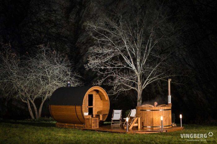 Akka Comfort Set- Sauna Akka#280 + Badetonne Norra #185