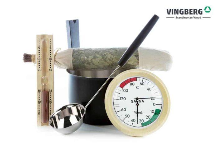 Zestaw akcesoriów do sauny premium z witkami brzozowymi