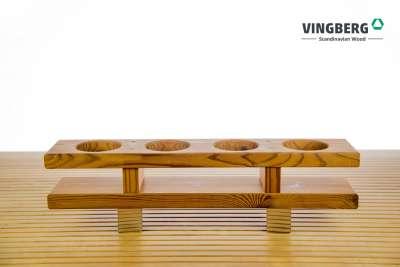 Drewniany pojemnik na napoje do balii
