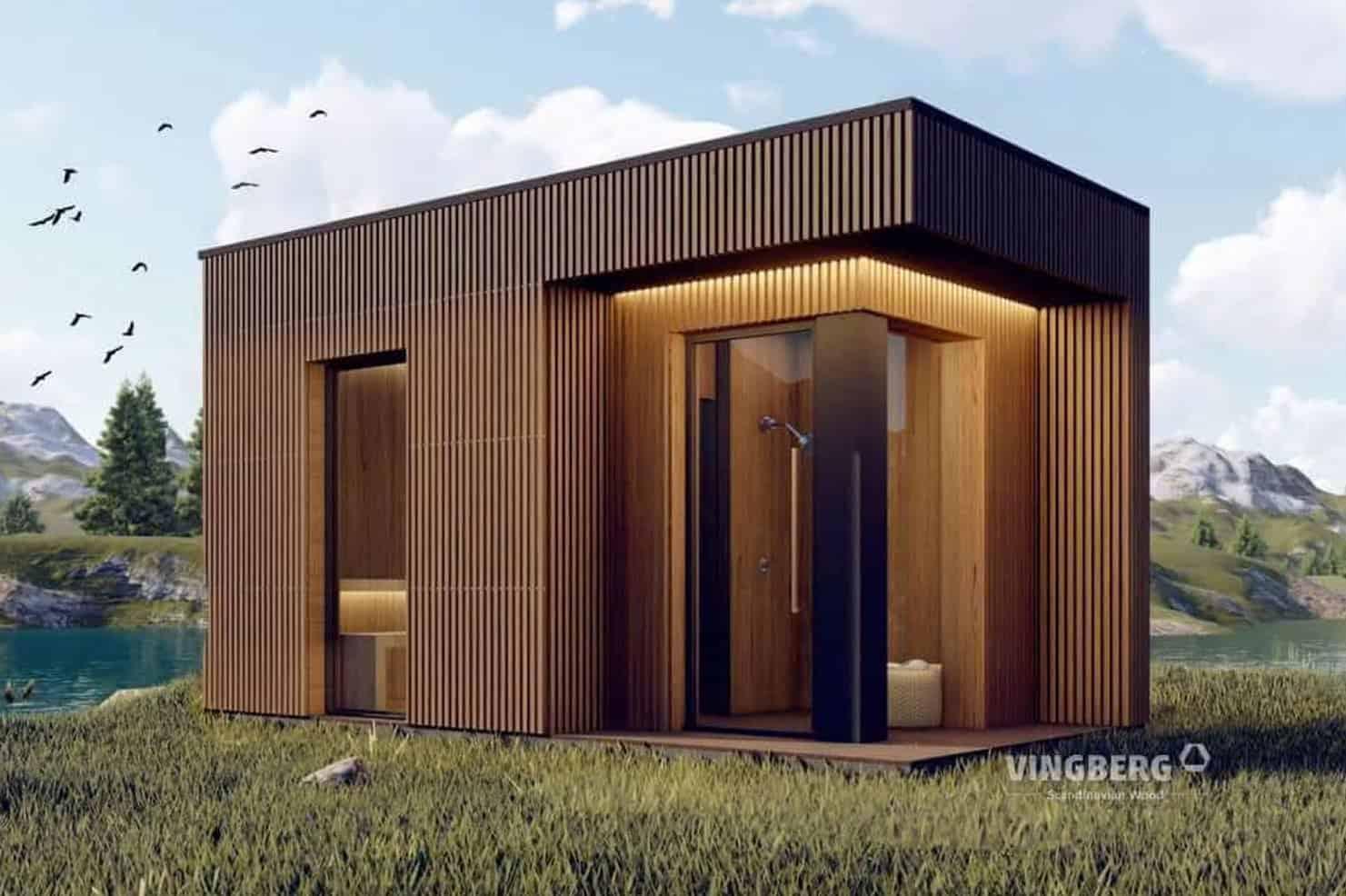 Nowoczesna sauna ogrodowa SCANDIT