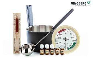 Zestaw akcesoriów do sauny premium z olejkami zapachowymi