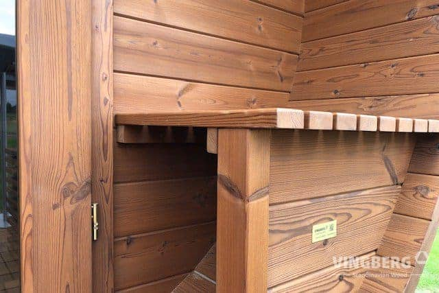 Sauna benches made from ThermoWood-VINGBERG