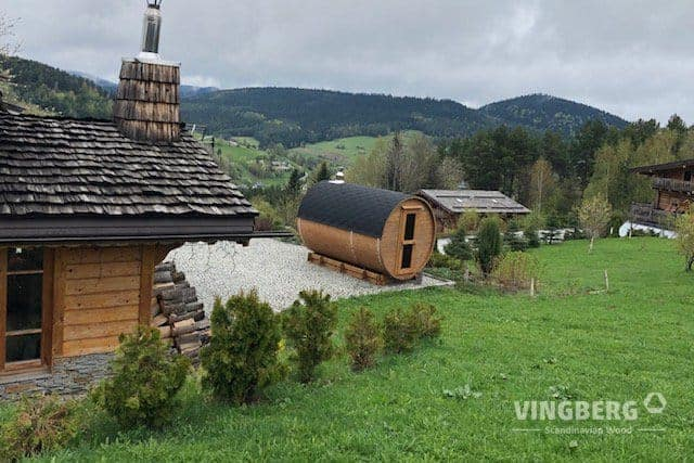 Sauna made from ThermoWood - Vingberg