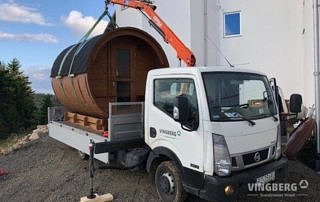 Sauna Vingberg on the truck