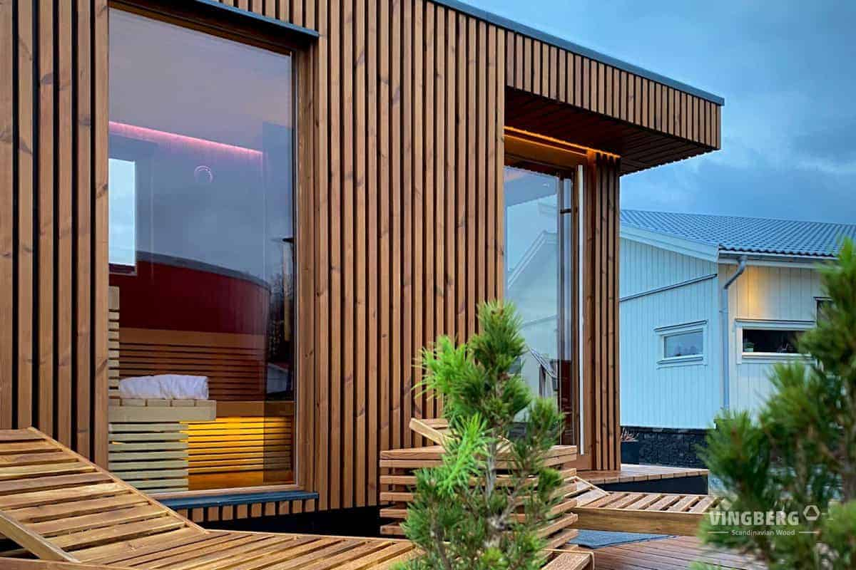 Modern sauna Scandit 10- Vingberg
