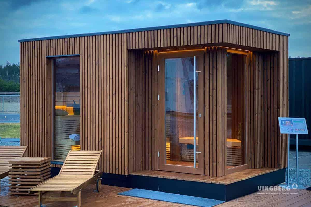 Zewnętrzna sauna ogrodowa z ThermoWoood