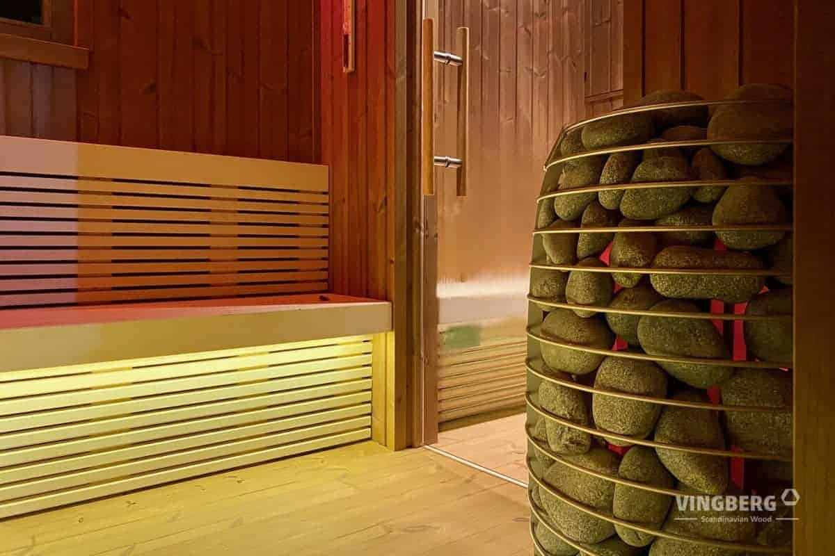 Interior of the modern sauna SCANDIT 1o