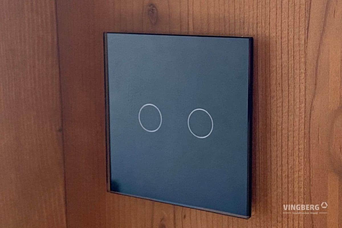 Elements of modern sauna interior SCANDIT 10