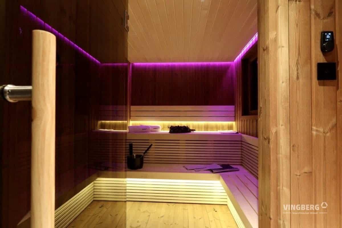 Scandit 10 - interior of the sauna