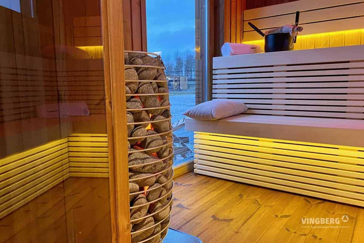 Interior of the modern sauna Scandit 10