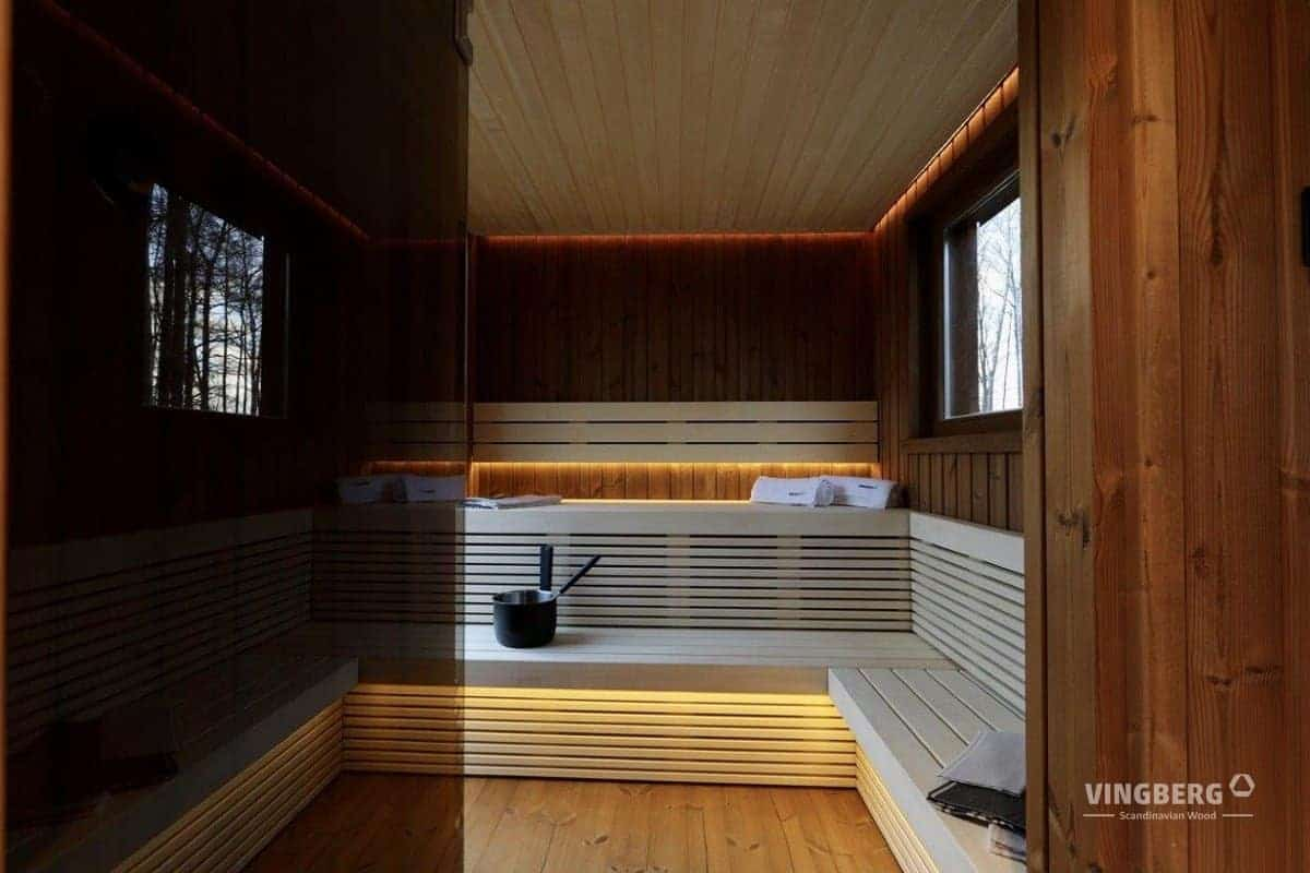 Scandit 10 - interior of the sauna