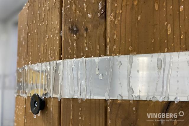 ThermoWood jest materiałem wyjątkowo odpornym na zewnętrzne warunki