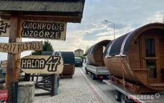 Transport sauny ogrodowej Akka