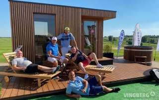 Sauna nowoczesna Scandit 10 na polu golfowym