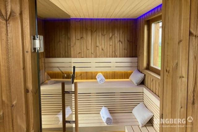 Interior of sauna SCANDIT 10
