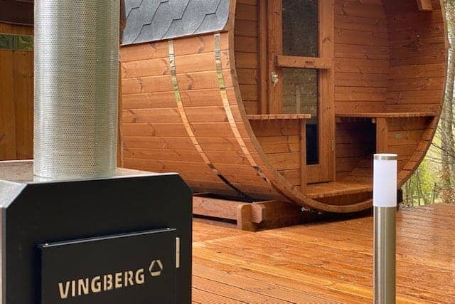 Sauna ogrodowa z piecem na drewno VINGBERG