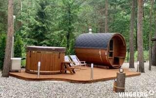Premium Sauna und Badefass aus ThermoWood