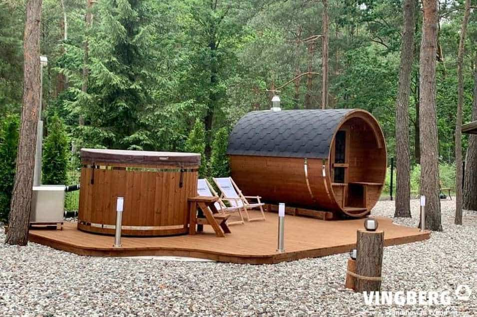 Sauna i balia ogrodowa z Thermowood