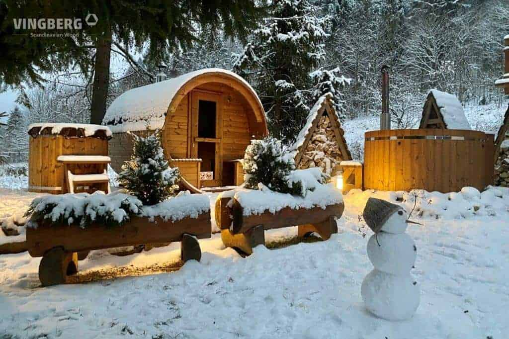 Zestaw ogrodowy SPA zimą