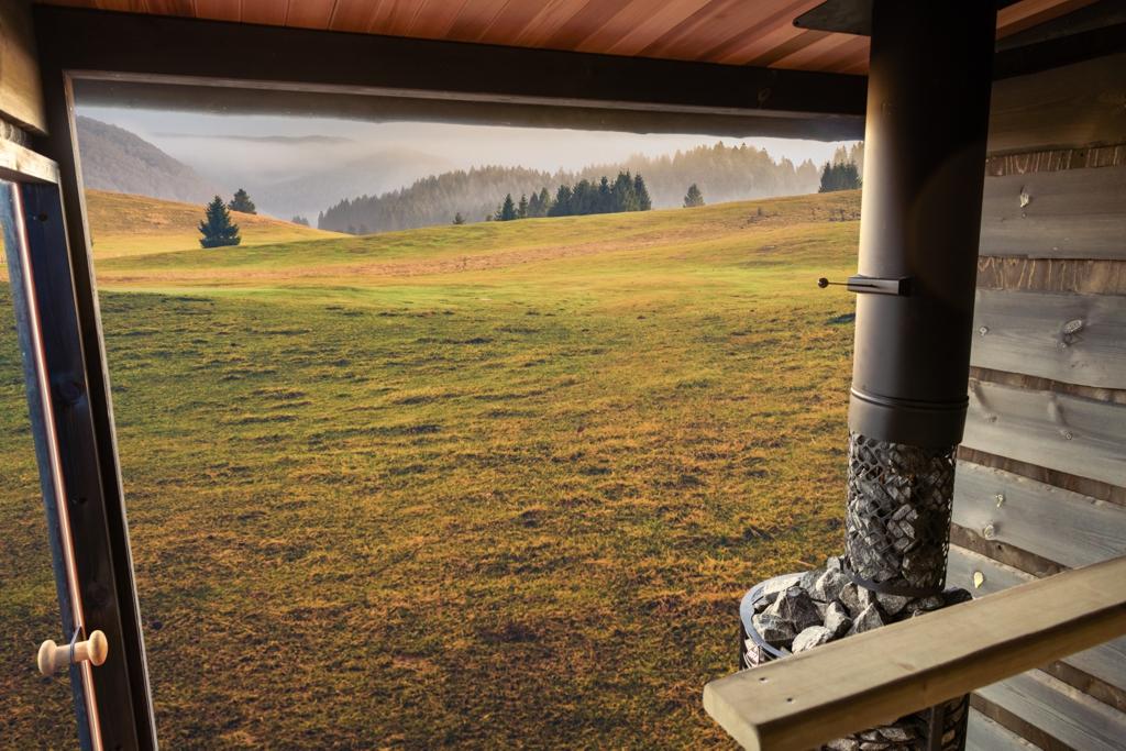 Okno panoramiczne w saunie FinVision