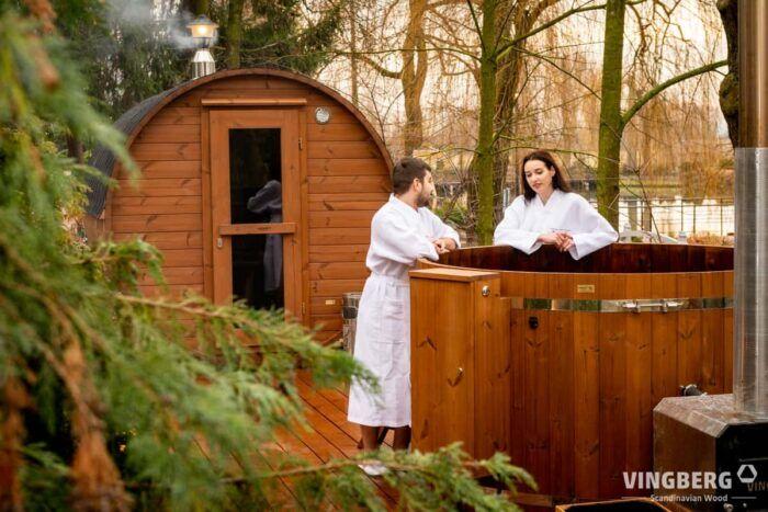 Sauna Akka #330 z termowanej sosny fińskiej