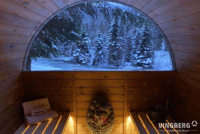 Sauna z piecem elektrycznym