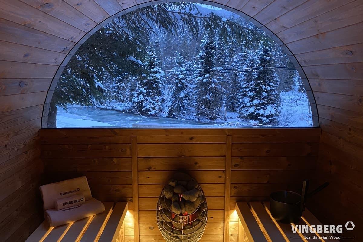 model drewna do sauny