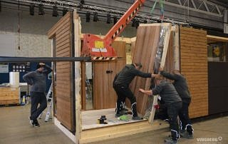 Scandit, montaż ścian na targach w Sztokholmie