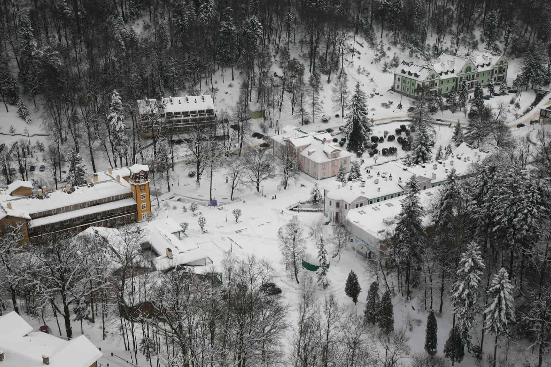 Zimowy krajobraz Iwonicza Zdroju