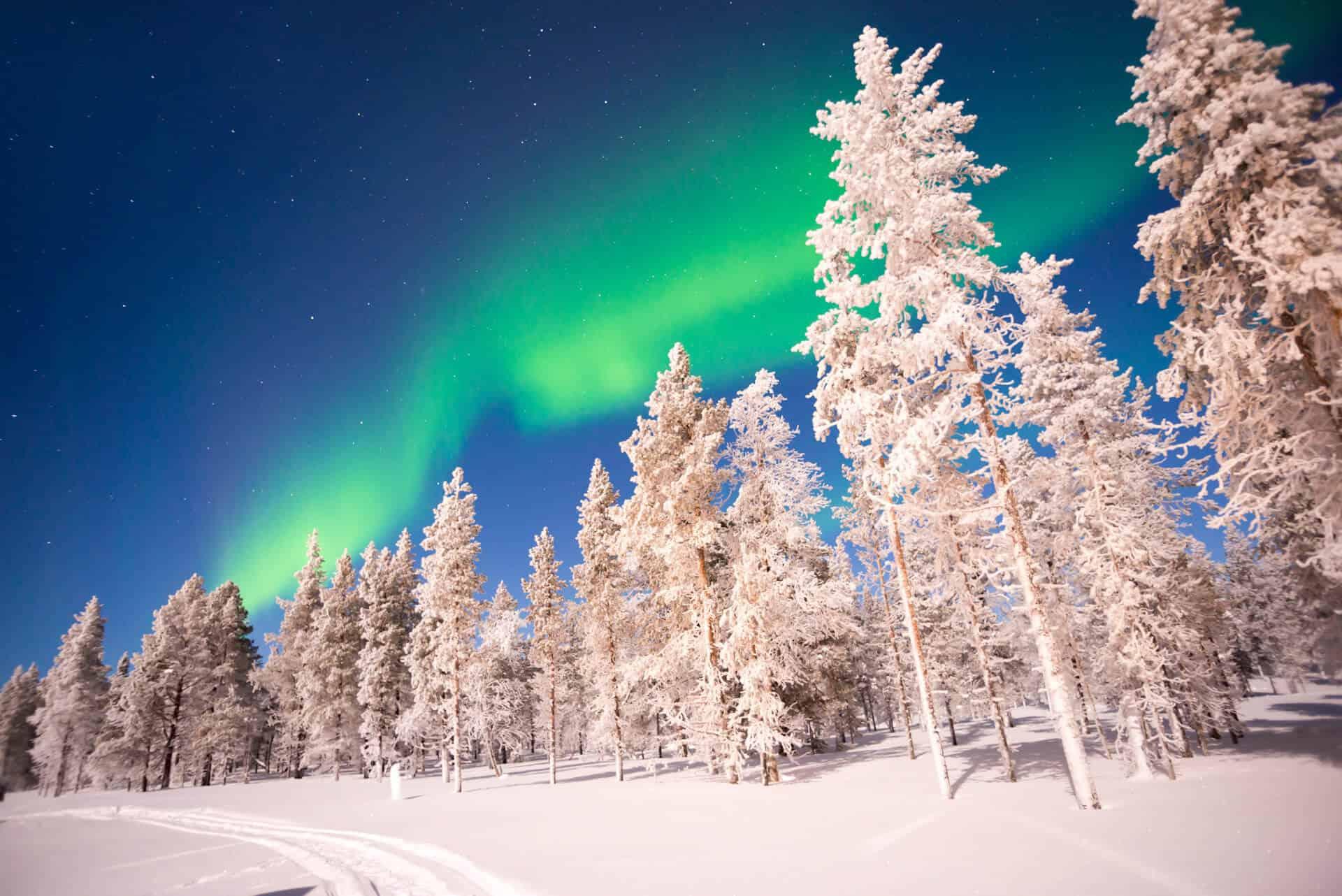 Zorza polarna - Laponia