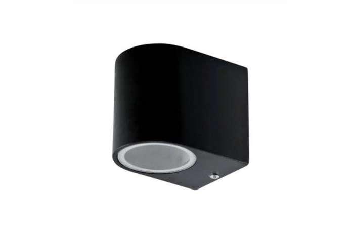Metalowy kinkiet do sauny w kolorze czarnym