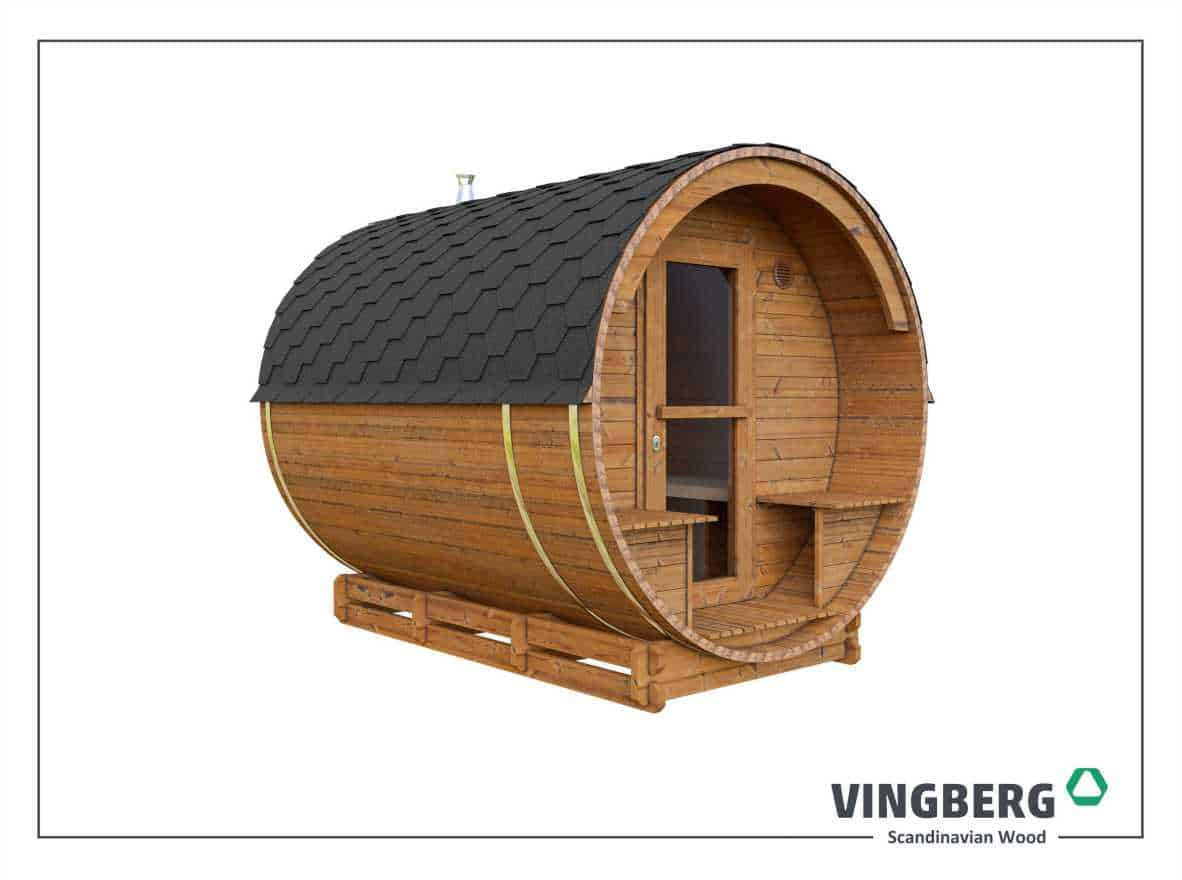 Garden sauna made from ThermoWood® of the Scandinavian pine